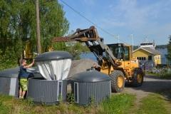 Sjöhämtning av avfall i skärgården, Österåker